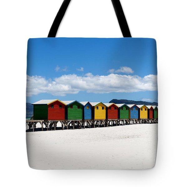 Beach Cabins  Tote Bag by Fabrizio Troiani
