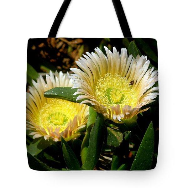 Beach Flower Tote Bag by Joyce Woodhouse