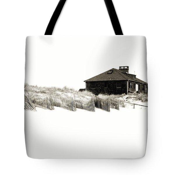 Beach House - Jersey Shore Tote Bag by Angie Tirado