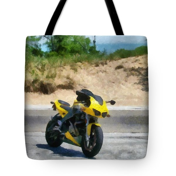 Beach Road Buell Tote Bag by Michelle Calkins