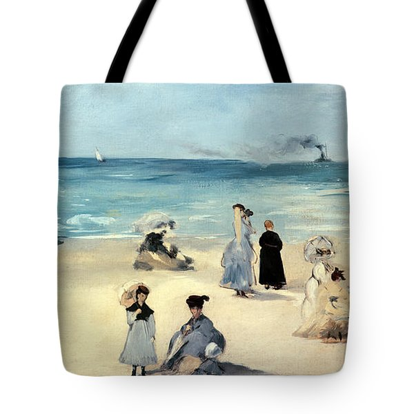 Beach Scene Tote Bag by Edouard Manet