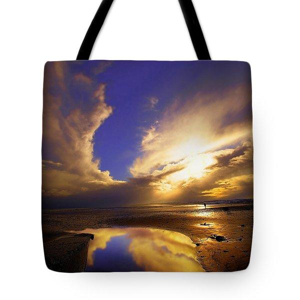 Beach Sunset Tote Bag by Svetlana Sewell