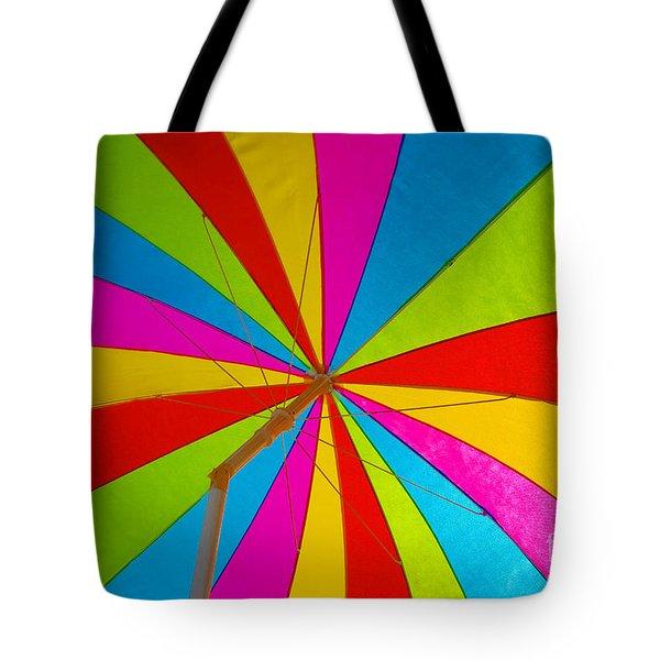 Beach Umbrella Tote Bag by David Lee Thompson
