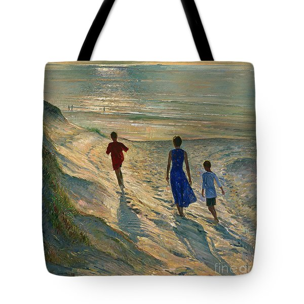 Beach Walk Tote Bag by Timothy Easton