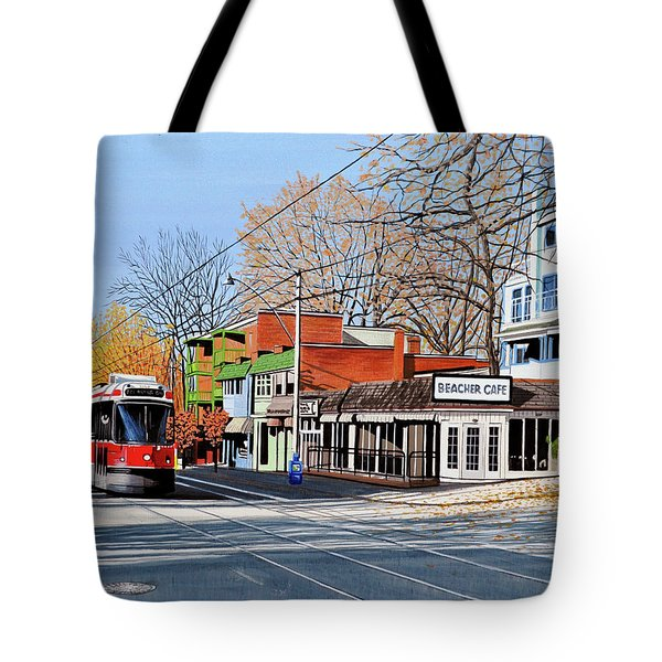 Beacher Cafe Tote Bag by Kenneth M  Kirsch