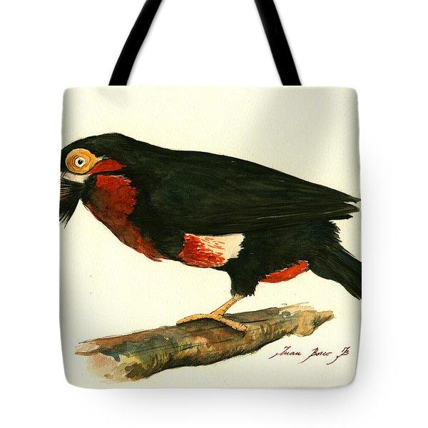 Bearded Barbet Tote Bag by Juan Bosco