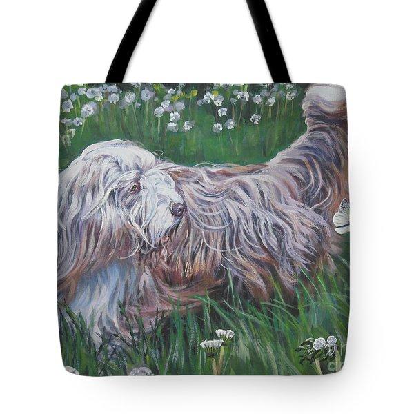 Bearded Collie Tote Bag by Lee Ann Shepard