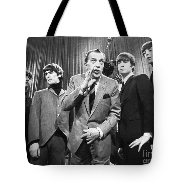 Beatles And Ed Sullivan Tote Bag by Granger