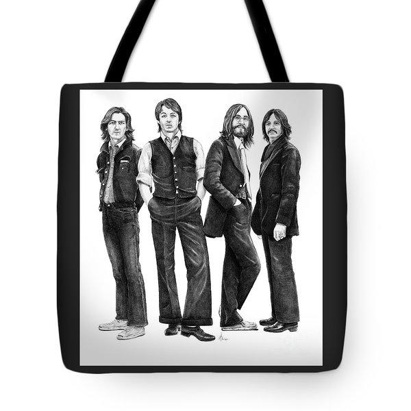 Beatles Drawing Tote Bag by Murphy Elliott