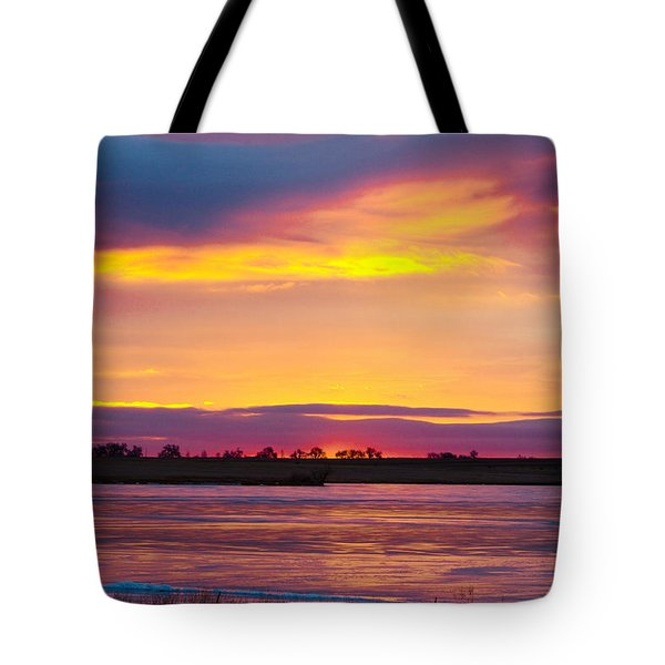 Beautiful Colorful Boulder County Winter Morning Tote Bag by James BO  Insogna