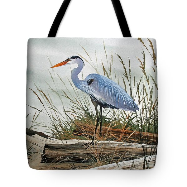 Beautiful Heron Shore Tote Bag by James Williamson