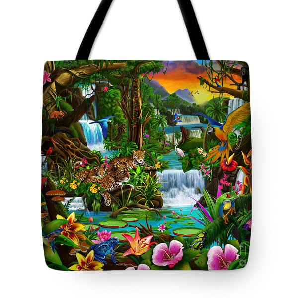 Beautiful Rainforest Tote Bag by Gerald Newton