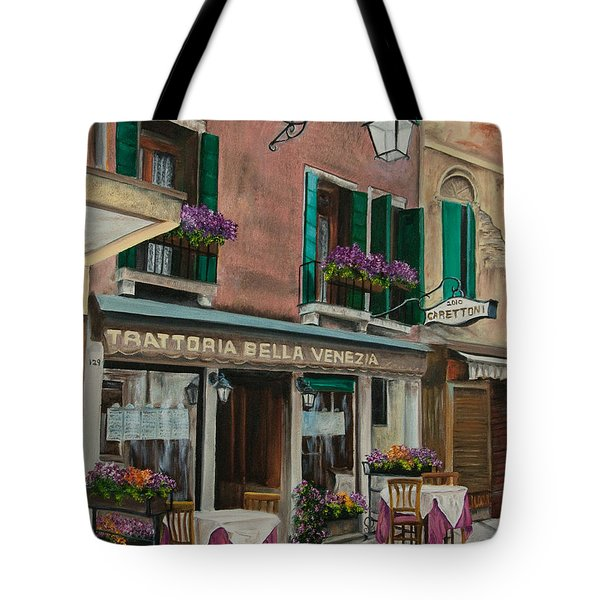 Beautiful Restaurant In Venice Tote Bag by Charlotte Blanchard