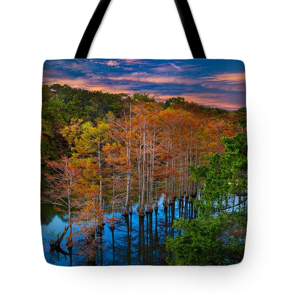 Beavers Bend Twilight Tote Bag by Inge Johnsson