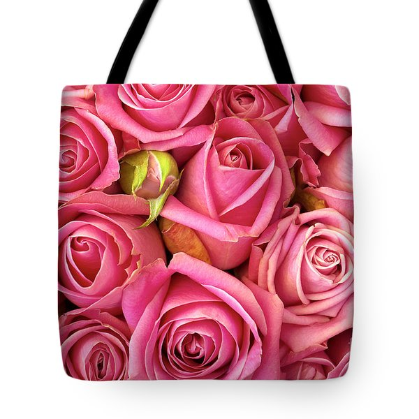 Bed Of Roses Tote Bag by Carlos Caetano