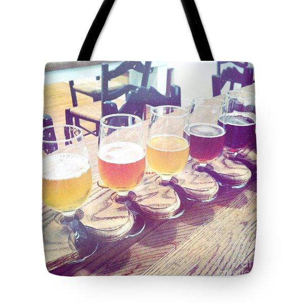 Beer Flight Tote Bag by Nina Prommer