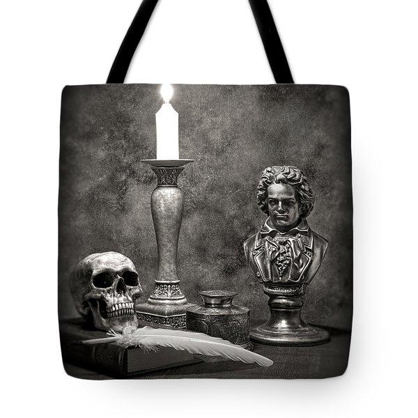 Beethoven Still Life Tote Bag by Tom Mc Nemar