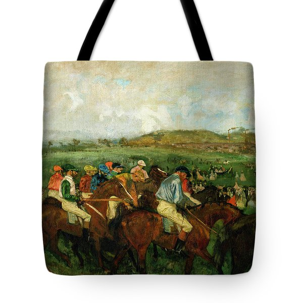 Before The Departure Tote Bag by Edgar Degas