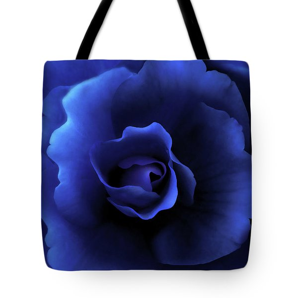 Begonia Floral Dark Secrets Tote Bag by Jennie Marie Schell