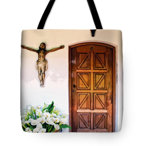Behind Door Number 2 Tote Bag by Dominic Piperata