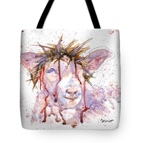 Behold the Lamb Tote Bag by Marsha Elliott
