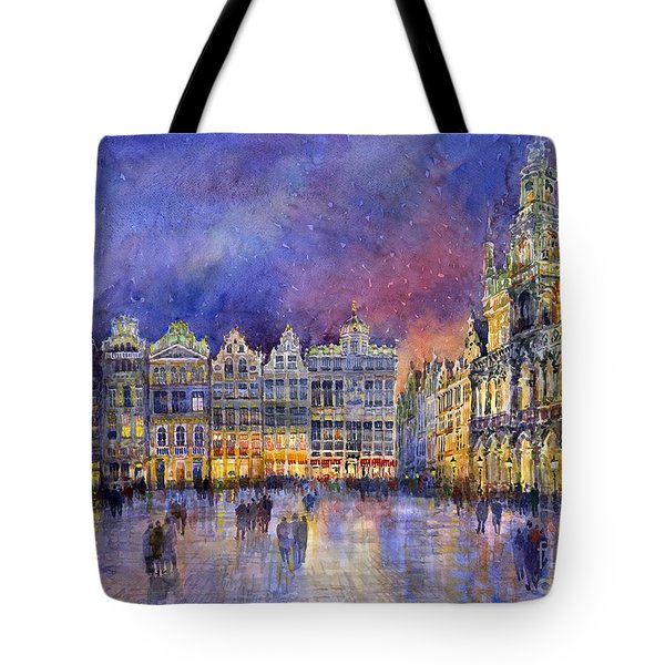 Belgium Brussel Grand Place Grote Markt Tote Bag by Yuriy  Shevchuk