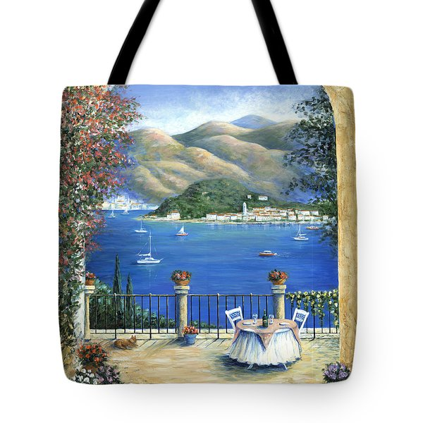 Bellagio Lake Como From The Terrace Tote Bag by Marilyn Dunlap