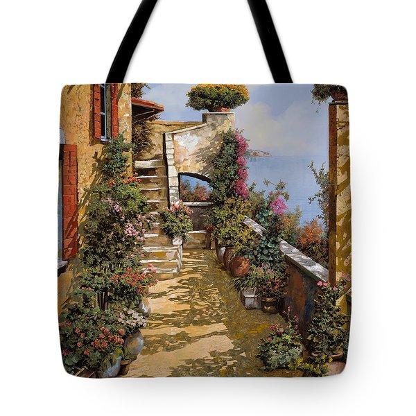 bello terrazzo Tote Bag by Guido Borelli