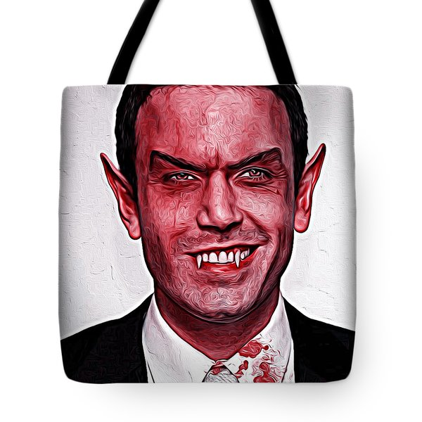 Ben Affleck Tote Bag by Gene Spino