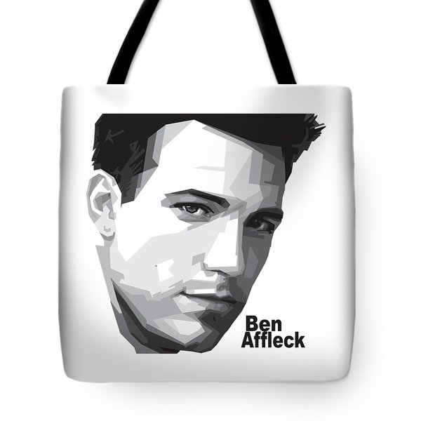 Ben Affleck Portrait Art Tote Bag by Madiaz Roby