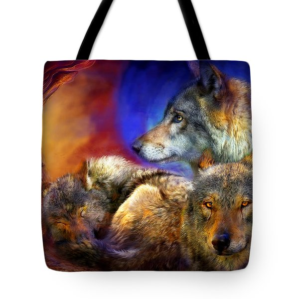 Beneath A Blue Moon Tote Bag by Carol Cavalaris