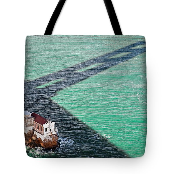 Beneath The Golden Gate Tote Bag by Dave Bowman