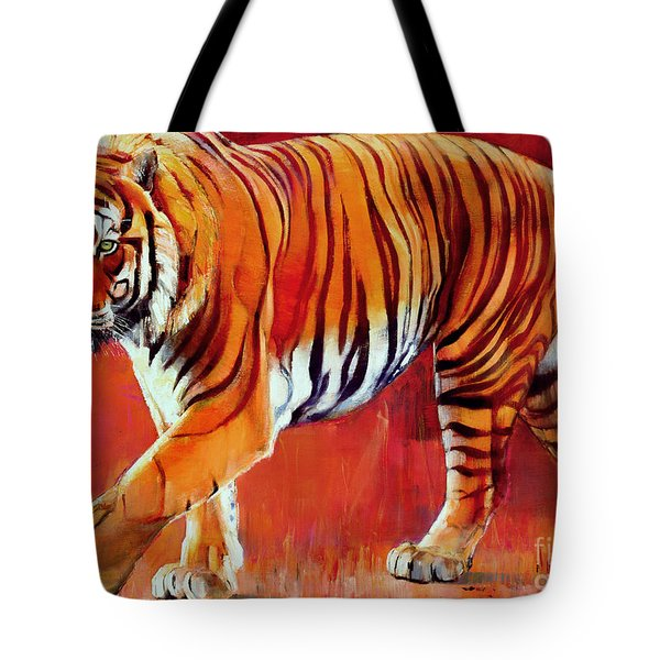 Bengal Tiger  Tote Bag by Mark Adlington