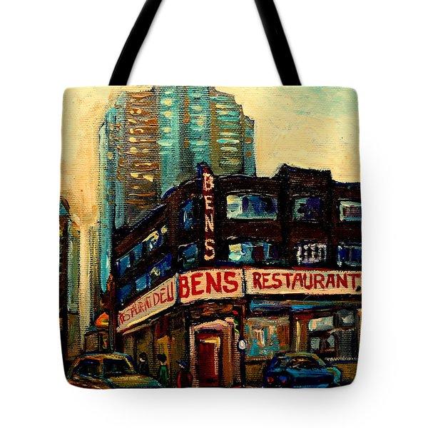 Bens Restaurant Deli Tote Bag by Carole Spandau