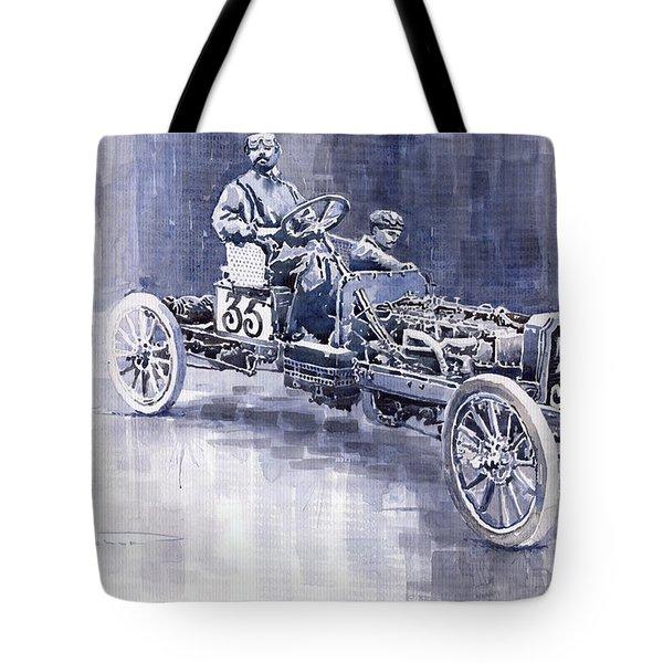 Benz 60hp Targa Florio Rennwagen 1907 Tote Bag by Yuriy  Shevchuk