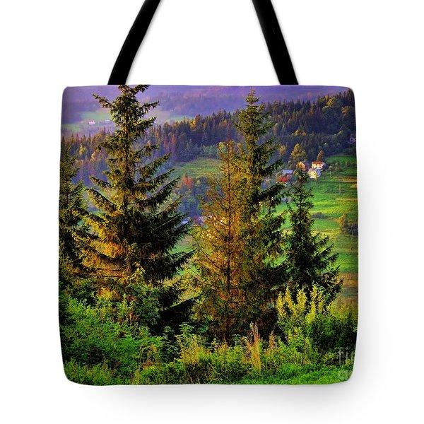 Beskidy Mountains Tote Bag by Mariola Bitner