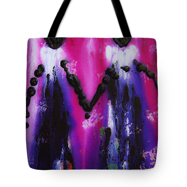 Best Friends Forever - BFF Love And Devotion Art Tote Bag by Sharon Cummings