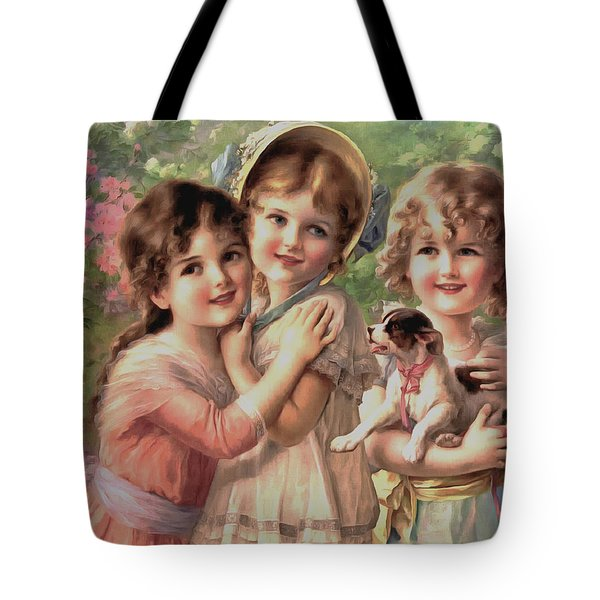 Best Of Friends Tote Bag by Emile Vernon