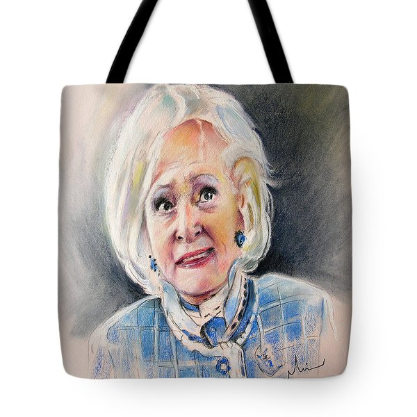 Betty White In Boston Legal Tote Bag by Miki De Goodaboom