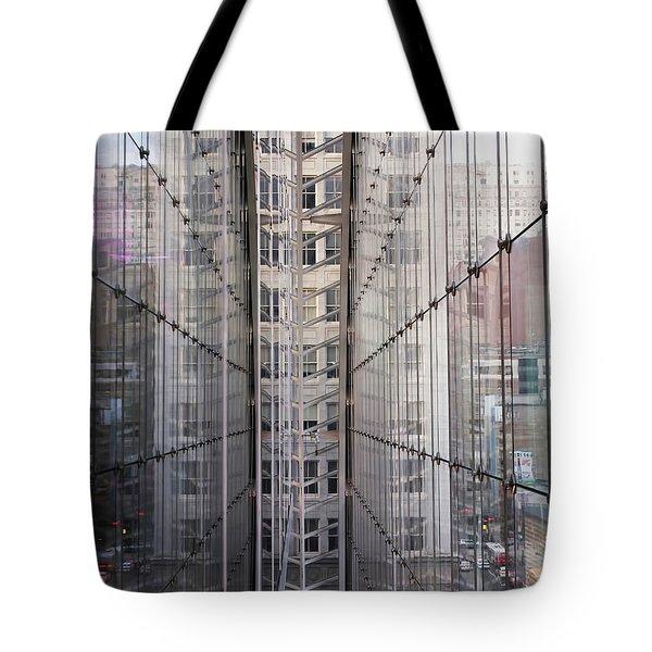 Between Glass Walls Tote Bag by Rona Black