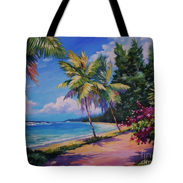 Between The Palms 20x16 Tote Bag by John Clark
