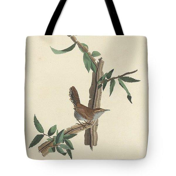 Bewick's Long-tailed Wren Tote Bag by John James Audubon