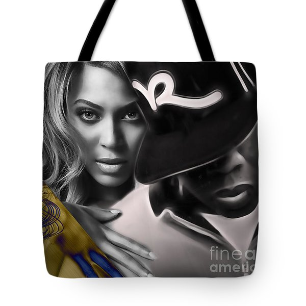 Beyonce Jay Z Collection Tote Bag by Marvin Blaine