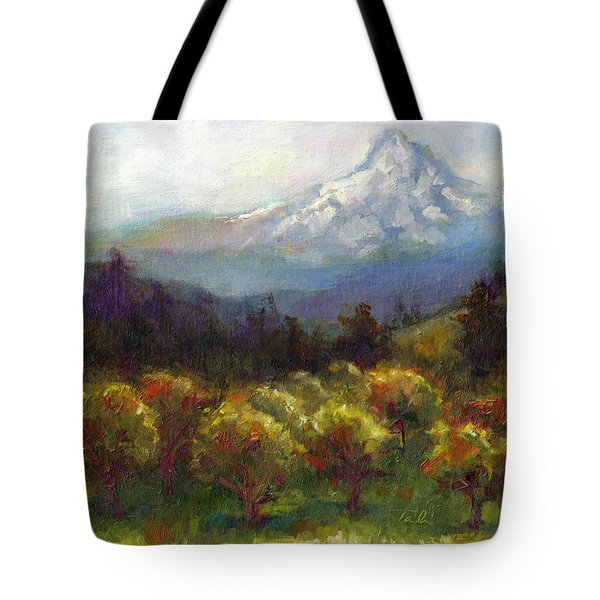 Beyond the Orchards Tote Bag by Talya Johnson