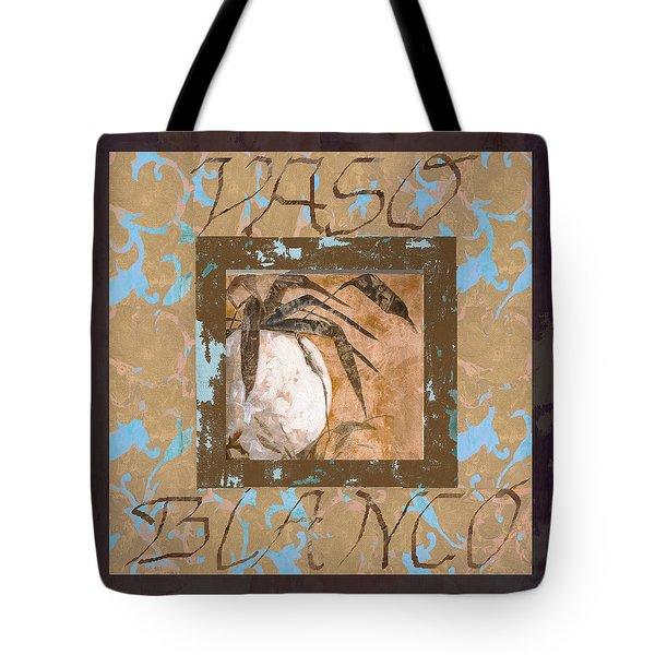 bianco vinaccia Tote Bag by Guido Borelli