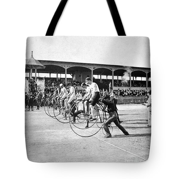 Bicycle Race, 1890 Tote Bag by Granger
