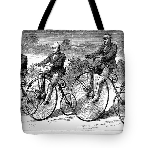 Bicycling, 1873 Tote Bag by Granger