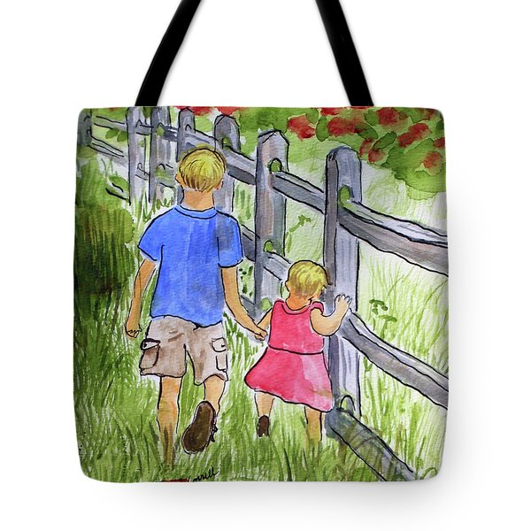 Big Brother Tote Bag by Arlene  Wright-Correll