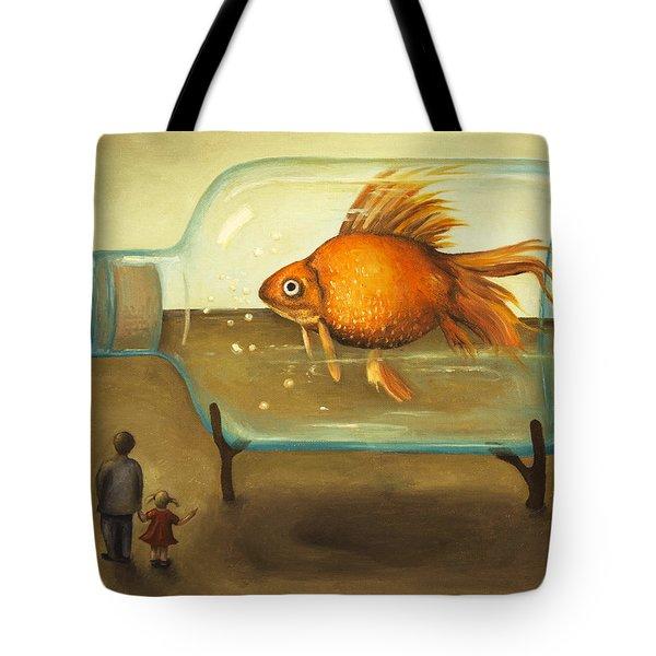 Big Fish Tote Bag by Leah Saulnier The Painting Maniac