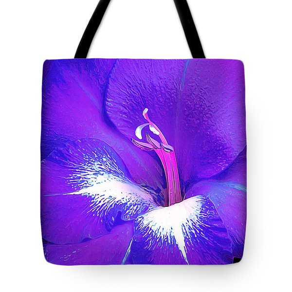 Big Glad In Purple And Blue Tote Bag by Bill Caldwell -        ABeautifulSky Photography